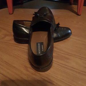 Bostonian tassel loafers work dress shoe slip on 8